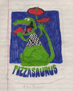 Original cover, by Alexander Burns, 3/10/89. Pencil and marker on notebook paper