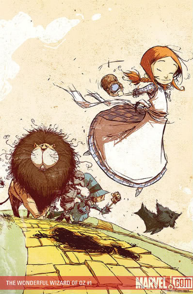 Wonderful Wizard of Oz, art by Skottie Young