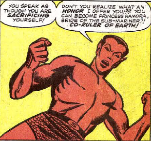Given that there is a character named Namora who is Namor's cousin, this is actually super creepy. What happens in Atlantis, I suppose.